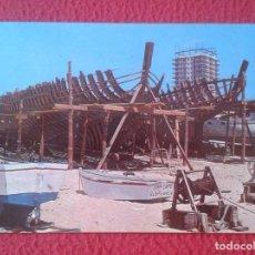 Postales: POST CARD COSTA DORADA DAURADA MATARÓ BARCELONA BARCAS EN CONSTRUCCIÓN BOATS SHIP CONSTRUCTION FITER. Lote 217590931
