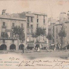 Postales: POSTAL ANTIGUA - HAUSER 1110.PLAZA ANTONIO LÖPEZ. 1904 CIRCULADA. Lote 217920750