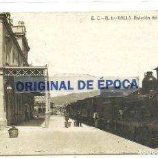 Postales: (PS-63694)POSTAL FOTOGRAFICA DE VALLS-ESTACION DEL FERROCARRIL.E.C.-B.. Lote 218114503