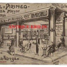 Postales: PUIGCERDA .- HOTEL PIRINEO .- PLAZA MAYOR .- EDICION LABOUCHE. Lote 218437605