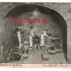 Postales: GUARDIOLA DE FONTRUBI Nº 11 CASA BAQUES , BRIGADA DE DEGÜELLO. Lote 218438843