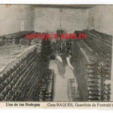 Postales: GUARDIOLA DE FONTRUBI Nº 7 CASA BAQUES , UNA DE LAS BODEGAS. Lote 218439580