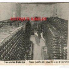 Postales: GUARDIOLA DE FONTRUBI Nº 7 CASA BAQUES , UNA DE LAS BODEGAS. Lote 218440043