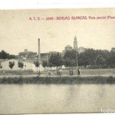 Postales: (PS-63727)POSTAL DE BORJAS BLANCAS-VISTA PARCIAL (PASEO DEL TARRALL).A.T.V.2340. Lote 218497658