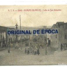 Postales: (PS-63728)POSTAL DE BORJAS BLANCAS-CALLE DE SAN SEBASTIAN.A.T.V.2343. Lote 218497731