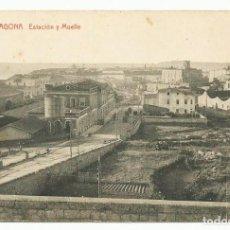 Postales: 19 - TARRAGONA. ESTACION Y MUELLE. LOTE 0068-2. Lote 218813882