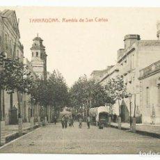 Postales: TARRAGONA. RAMBLA DE SAN CARLOS. LOTE 0071-1. Lote 218815500
