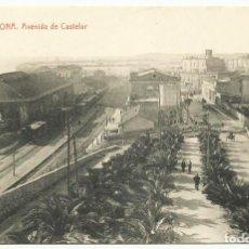 Postales: TARRAGONA. AVENIDA DE CASTELAR. LOTE 0072-1. Lote 218815946