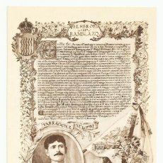 Postales: 9 - SARGENTO D. MANUEL DOMINGUEZ GARRIDO, DEL REGIMIENTO DE TARRAGONA. LOTE 0073-2. Lote 218816978