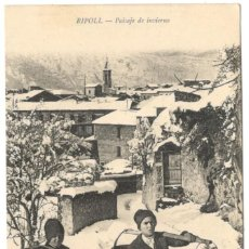 Postales: POSTAL - RIPOLL - PAISAJE DE INVIERNO. COL MAURI, SIN CIRCULAR.. Lote 219028925