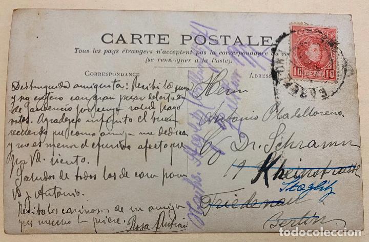 Postales: MONCADA. 8 - 9 - 1908. SORTIDA DE LA PROFESSÓ. POSTAL FOTOGRÁFICA. MONTCADA. PROCESIÓN. - Foto 2 - 219177245
