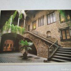 Postales: POSTAL BARCELONA MUSEO PICASSO PALACIO BERENGUER DE AGUILAR AÑO 1990. Lote 219717685