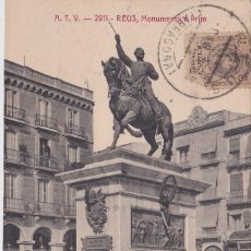 Postales: REUS (TARRAGONA) - MONUMENTO A PRIM. Lote 220302838
