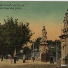 Postales: ENTRADA DEL PARQUE-BARCELONA. Lote 220597972