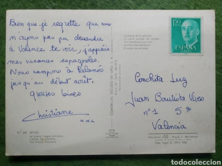 Postales: Postal n°230 la iglesia fuegos artificiales Sitges - Foto 2 - 221132297
