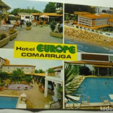 Postales: POSTAL COMARRUGA -HOTEL EUROPE-ESCRITA. Lote 221431473