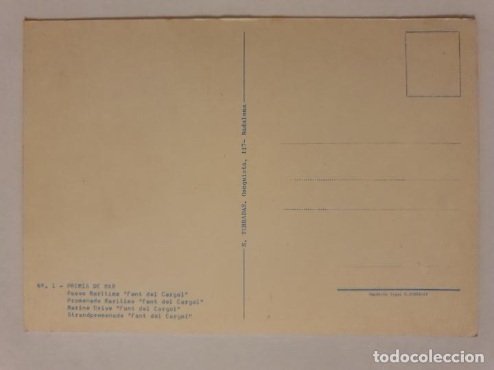 Postales: PREMIÀ DE MAR - PASEO MARÍTIMO - FONT DEL CARGOL - TAXI - RENAULT DAUPHINE - LMX - MAR2 - Foto 2 - 221513696