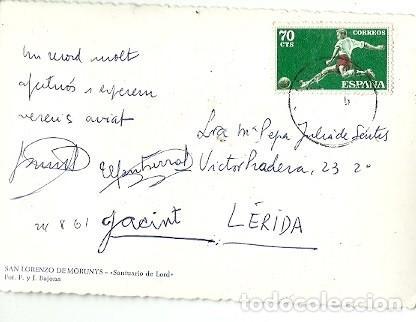 Postales: ANTIGUA POSTAL SAN LORENZO DE MORUNYS SANTUARIO DE LORD FOT F Y J BAJONA ESCRITA - Foto 2 - 221515907