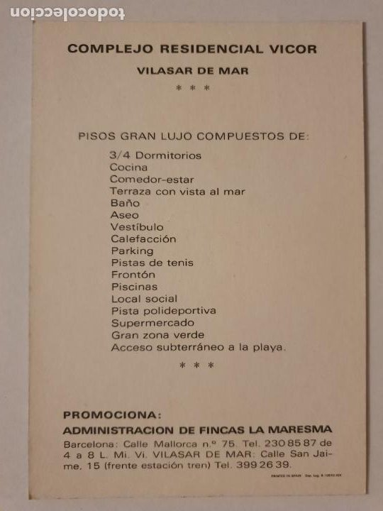 Postales: VILASSAR DE MAR - COMPLEJO RESIDENCIAL VICOR - PISOS - LMX - MAR2 - Foto 2 - 221515921