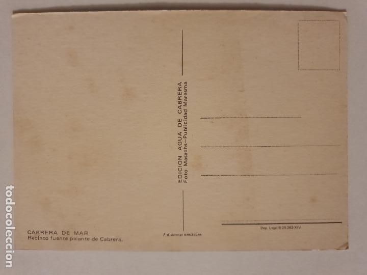 Postales: CABRERA DE MAR - FONT PICANT - MERENDERO - LMX - MAR2 - Foto 2 - 221516002
