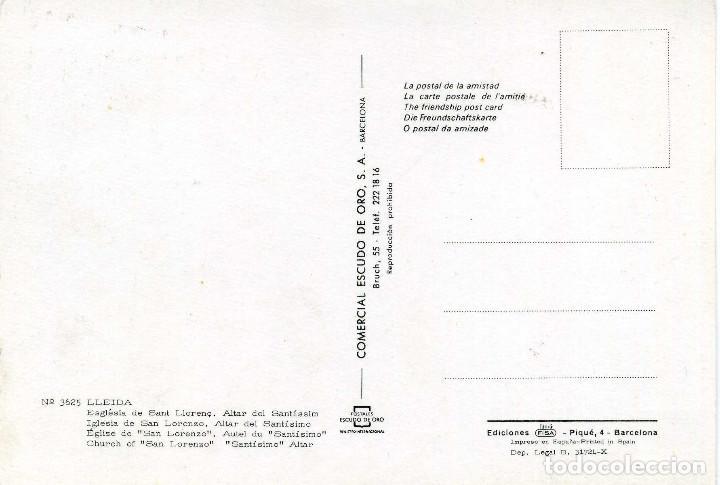 Postales: LLEIDA - ESGLÉSIA DE SANT LLORENÇ - Foto 2 - 221521852