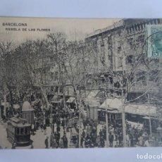 Postales: ANTIGUA POSTAL FOTOGRÁFICA , BARCELONA ,RAMBLA DE LAS FLORES , VER FOTOS. Lote 221599706