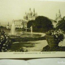 Postales: POSTAL BARCELONA 1929 - EXPOSICION INTERNACIONAL AGUA Y FLORES CM. Lote 221615287