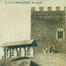 Postales: BARCELONA. CASTILLO DE BALSARENY.HACIA 1910. MUY RARA.. Lote 221668003