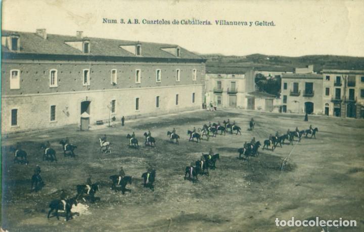 VILLANUEVA Y GELTRÚ. CUARTELES DE CABALLERÍA. HACIA 1920. (Postales - España - Cataluña Antigua (hasta 1939))