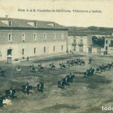 Postales: VILLANUEVA Y GELTRÚ. CUARTELES DE CABALLERÍA. HACIA 1920.. Lote 221668425