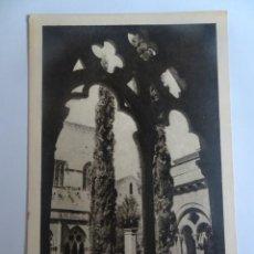 Postales: ANTIGUA POSTAL FOTOGRÁFICA, REAL MONASTERIO DE POBLET, VER FOTOS. Lote 221704707