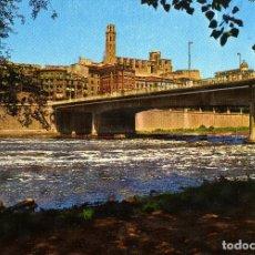 Postales: LERIDA - PUENTE Y RIO SEGRE. Lote 221741525