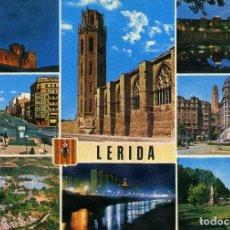 Postales: LERIDA - VARIOS ASPECTOS. Lote 221741582