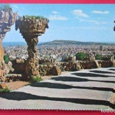 Postales: BARCELONA. VISTA DESDE EL PARQUE GÚELL (GAUDI).. Lote 221883318