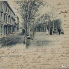 Postales: P-11589. BARCELONA. PASEO DE GRACIA (IZQUIERDA). AÑO 1903. CIRCULADA. Lote 221945370