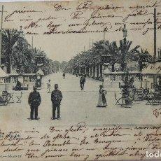Postales: P-11592. BARCELONA. PASEO DE COLON. CIRCULADA. AÑO 1902.. Lote 221949872