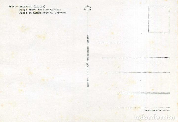 Postales: BELLPUIG - PLAÇA RAMON FOLC DE CARDONA - Foto 2 - 221988133