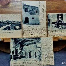 Postales: LOTE 4 ANTIGUAS POSTALES DE SITGES.J.DE D. TRES SERIE B Y UNA SÉRIE A. AÑO 1903.TODAS SELLADAS.. Lote 222145746