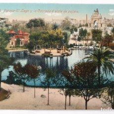 Postales: ANTIGUA POSTAL DE BARCELONA. Nº 30. PARQUE EL LAGO Y LA CASCADA. JORGE VENINI.. Lote 222340457