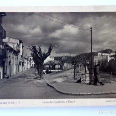 Postales: P-11645. VILASAR DE MAR. CALLE DEL CARMEN Y RIERA. COLECCIÓN MAVE, NÚMERO 3. NO CIRCULADA.. Lote 222392741