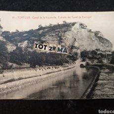 Postales: TORTOSA CANAL DE LA IZQUIERDA, ESTRADA DEL TÚNEL DE BARRUGAT. Lote 222466918