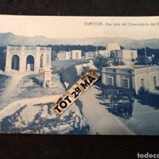 Cartes Postales: TORTOSA UNA VISTA DEL OBSERVATORIO DEL EBRO. Lote 222467263