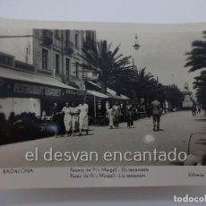 Postales: BADALONA. PASSEIG PI I MARGALL. ELS RESTAURANTS. POSTAL FOTOGRÁFICA LLIB. RIERA. Lote 222576427