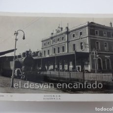 Postales: BADALONA. ESTACIÓN M.Z.A.. POSTAL FOTOGRÁFICA LLIB. RIERA. Lote 222576927