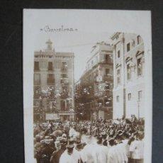 Postales: BARCELONA-ENTERRO DEL BISBE CARDERNAL CASANYAS-FOTOGRAFICA-POSTAL ANTIGUA-(75.261). Lote 222694171