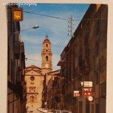 Postales: BORGES BLANQUES - CARRER NOU I ESGLÉSIA / CALLE NUEVA E IGLESIA - RENAULT 4 - LLEIDA - LMX - PLLE6. Lote 222715903