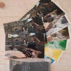 Postales: CALDAS DE MALAVELLA / TERMAS ROMANAS .- POSTAL , NEGATIVOS Y PRUEBA DE COLOR. Lote 222896356