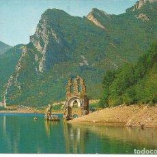 Postales: POSTAL PONT DE SUERT (LÉRIDA) - LAGO DE ESCALES, RUINAS MONASTERIO DE LAVAIX - 1974. Lote 223102027