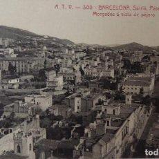 Postales: P-11704. BARCELONA. SARRIÁ. PASEO DEL OBISPO MORGADES A VISTA DE PÁJARO. A.T.V. SIN CIRCULAR.. Lote 223152066