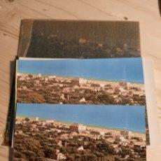 Postales: CASTELLDEFELS / VISTA GENERAL / NEGATIVOS Y PRUEBAS DE COLOR / EURO-EDICIONES. Lote 223480388